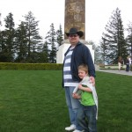 At the Astoria Column (after climbing to the top!)