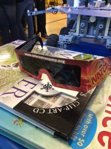 The solar viewing glasses were very popular!
